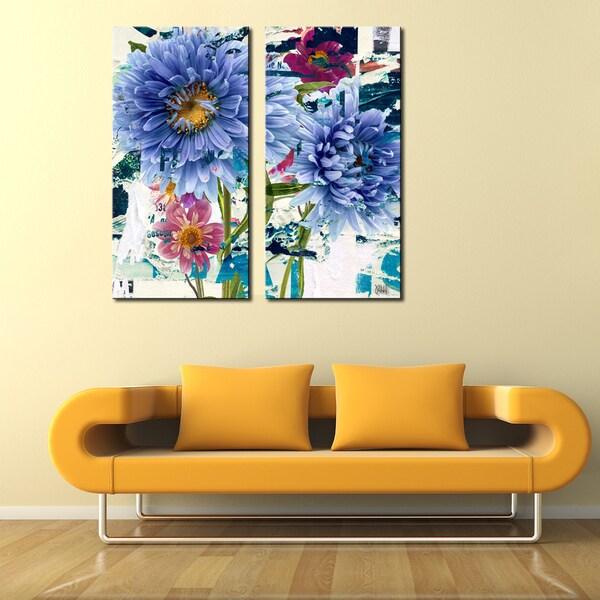 Ready2HangArt 'Painted Petals LXXIV' 2 Piece Canvas Art Set