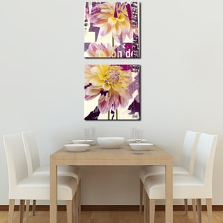 Ready2HangArt 'Painted Petals LXXII' 2 Piece Canvas Art Set