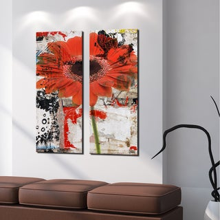 Ready2HangArt 'Painted Petals LXX' 2 Piece Canvas Art Set