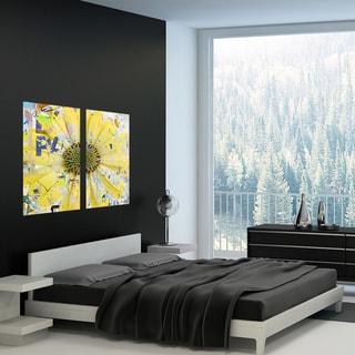 Ready2HangArt 'Painted Petals LXIX' 2 Piece Canvas Art Set