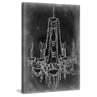 Handmade Marmont Hill - 'Chalkboard Chandelier I' Painting Print on Wrapped Canvas (USA)