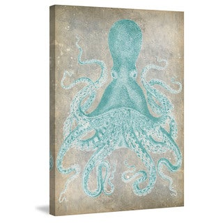 Marmont Hill - 'Spa Octopus I' Painting Print on Wrapped Canvas