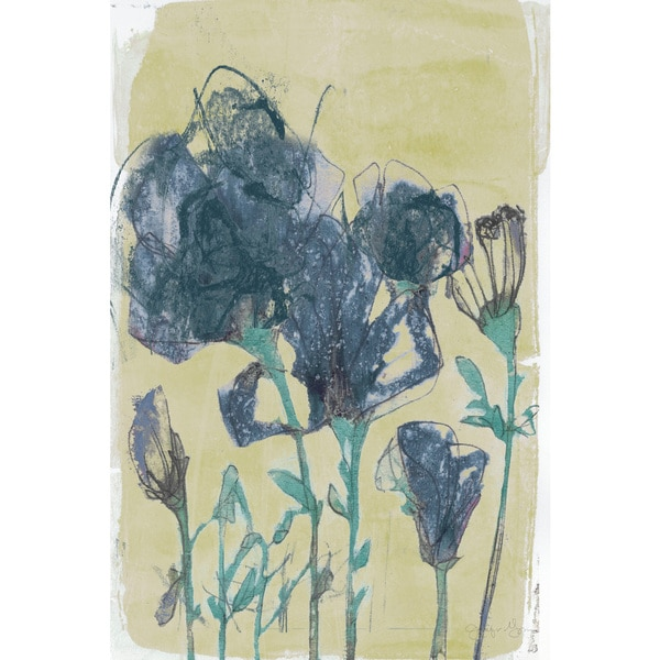 Marmont Hill - 'Floral Vignette III' Painting Print on Wrapped Canvas - Multi-color