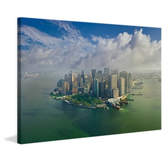 Marmont Hill - 'Manhattan Pano' Painting Print on Wrapped Canvas