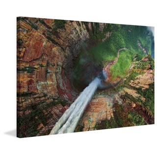 Marmont Hill - 'Angel Dragon Fall' Painting Print on Wrapped Canvas