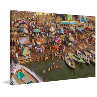 Marmont Hill - 'Seaside Party' Painting Print on Wrapped Canvas