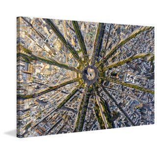 Marmont Hill - 'Paris Aerial' Painting Print on Wrapped Canvas