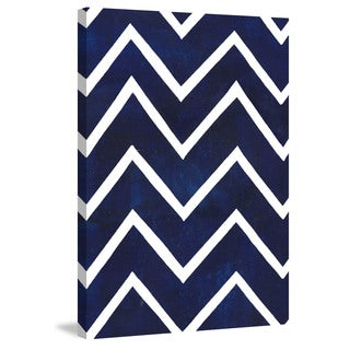 Marmont Hill - 'Indigo Pattern VI' Painting Print on Wrapped Canvas