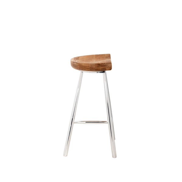 Fine Sunpan Copley Brown Wood And Stainless Steel 26 Counter Stool Caraccident5 Cool Chair Designs And Ideas Caraccident5Info