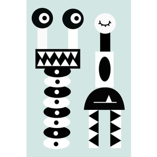 Marmont Hill - 'Robot Grin' by Katarina Snygg Painting Print on Wrapped Canvas