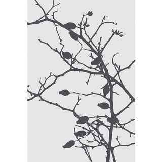 Marmont Hill - 'Grey Leaves' by Katarina Snygg Painting Print on Wrapped Canvas