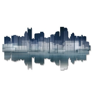 Ash Carl 'Pittsburgh Reflection' Metal Wall Art