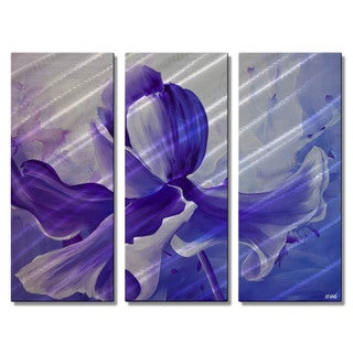 Osnat 'Iris' Purple Metal Wall Art