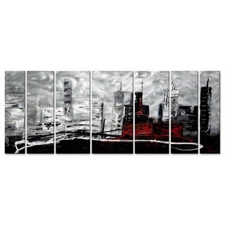 All My Walls 'The Red Building' Metal Wall Art