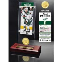 Zack Parise Ticket & Bronze Coin Acrylic Desk Top
