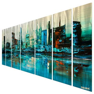 Osnat 'Blue Lagoon' Metal Wall Art