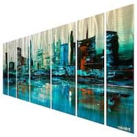 Osnat 'Blue Lagoon' Metal Wall Art