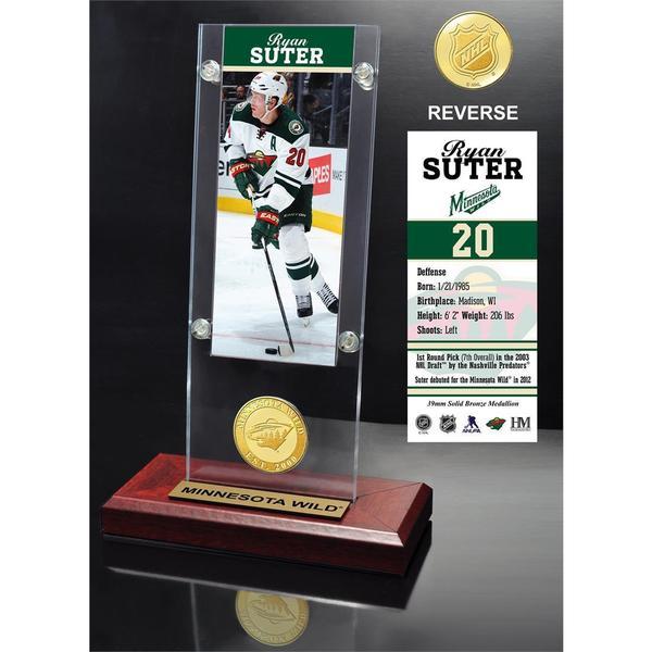 Ryan Suter Ticket & Bronze Coin Acrylic Desk Top