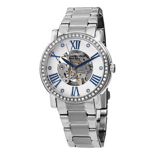 Stuhrling Original Women's Automatic Legacy Skeletonized Stainless Steel Strap Watch