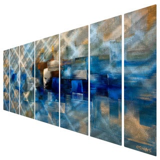 Osnat 'Blue Drop' Metal Wall Art