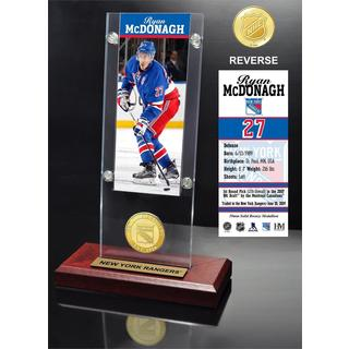 Ryan McDonagh Ticket & Bronze Coin Acrylic Desk Top