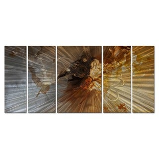Osnat 'The Silver Bay' Multicolored Metal Wall Art