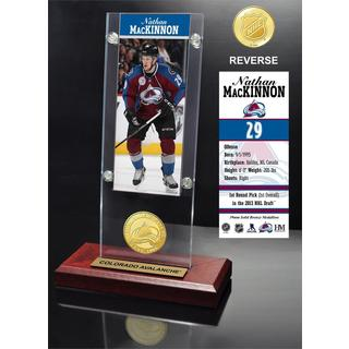 Nathan MacKinnon Ticket & Bronze Coin Acrylic Desk Top