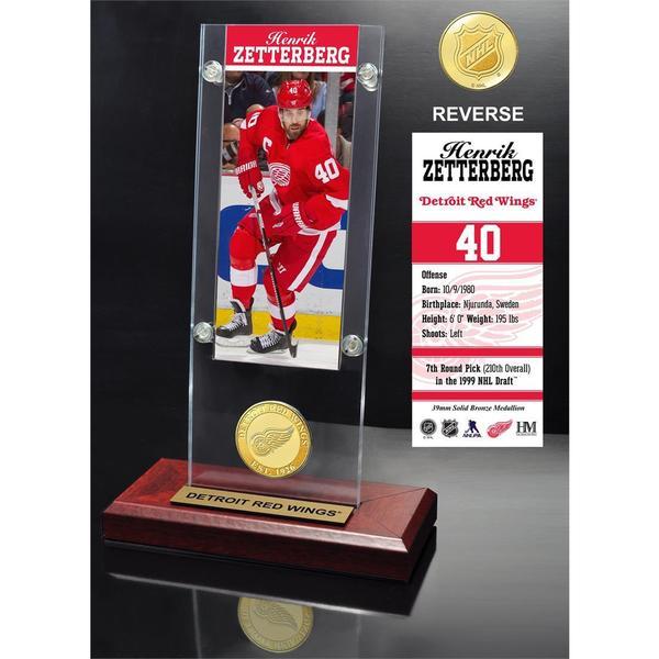 Henrick Zetterberg Ticket & Bronze Coin Acrylic Desk Top