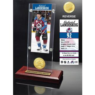 Gabriel Landeskog Ticket & Bronze Coin Acrylic Desk Top