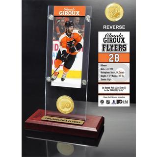 Claude Giroux Ticket & Bronze Coin Acrylic Desk Top