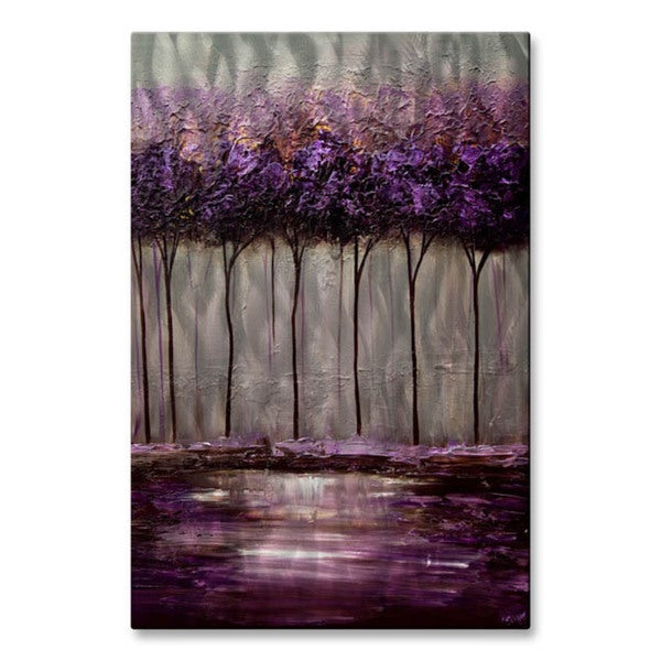 Osnat U0026#x27;Purple Scent 1u0026#x27; Metal Wall Art