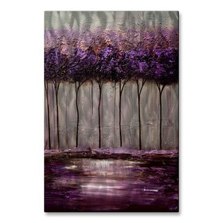 Osnat 'Purple Scent 1' Metal Wall Art