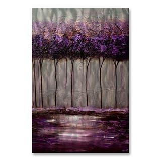 Osnat 'Purple Scent 1' Metal Wall Art|https://ak1.ostkcdn.com/images/products/13028764/P19770014.jpg?impolicy=medium