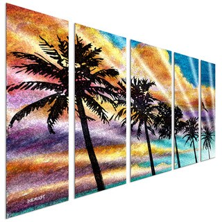Steve Heriot 'Palm 2' Metal Wall Art
