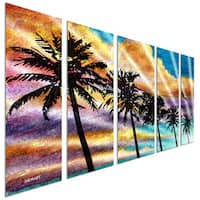Steve Heriot 'Palm 2' Metal Wall Art