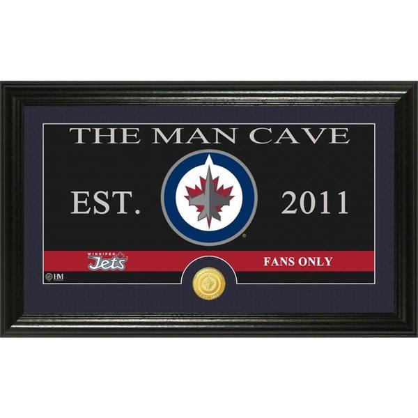 "Winnipeg Jets ""Man Cave"" Panoramic Bronze Coin Photo Mint"