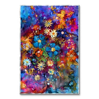 Svetlana Novikova 'Abstract Flowers 2' Metal Wall Art
