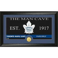 "Toronto Maple Leafs ""The Man Cave"" Bronze Coin Panoramic Photo Mint"