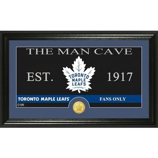 """Toronto Maple Leafs """"The Man Cave"""" Bronze Coin Panoramic Photo Mint"""