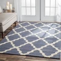 nuLOOM Handmade Alexa Moroccan Trellis Wool Area Runner Rug - 2'6 x 12'