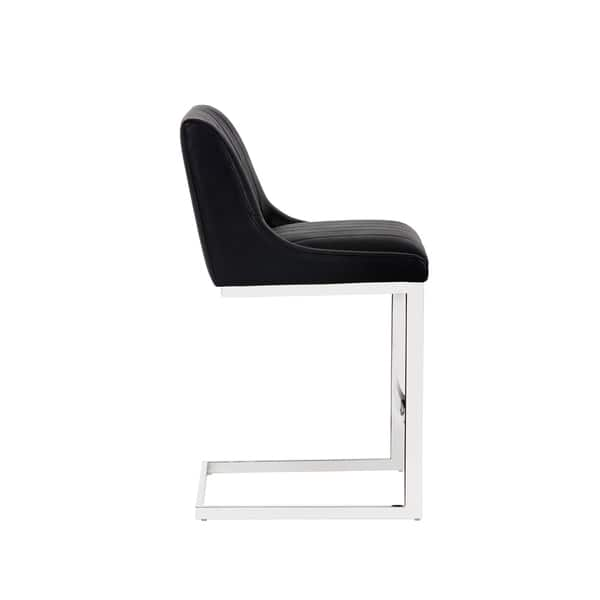 Surprising Shop Sunpan Halden Black Stainless Steel Vintage Armless Pdpeps Interior Chair Design Pdpepsorg