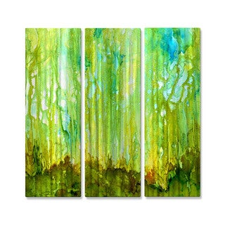 All My Walls Rosie Brown 'Forrest Glow' Metal Abstract Wall Art