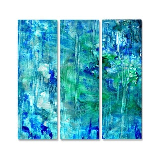 Rosie Brown 'Blue Grotto' Metal Wall Art