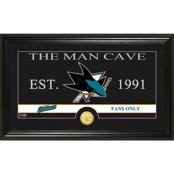 "San Jose Sharks ""Man Cave"" Panoramic Bronze Coin Photo Mint"