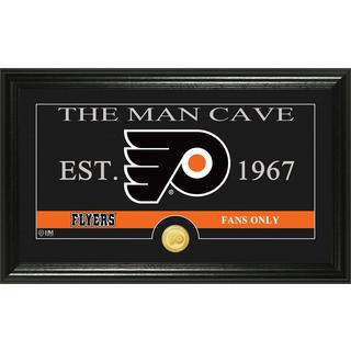 "Philadelphia Flyers ""The Man Cave"" Bronze Coin Panoramic Photo Mint"