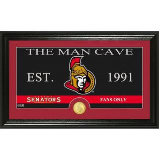 "Ottawa Senators ""The Man Cave"" Bronze Coin Panoramic Photo Mint"