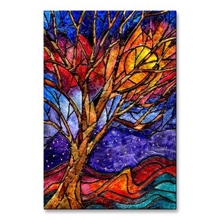 Elaine Hodges 'Tree' Multicolored Metal/Stained Glass Wall Art