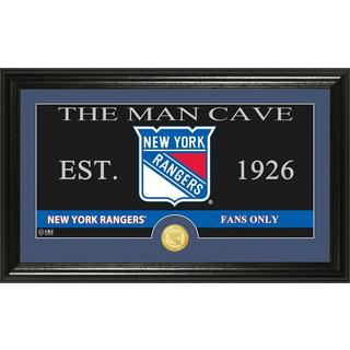 "New York Rangers ""The Man Cave"" Bronze Coin Panoramic Photo Mint"