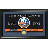 "New York Islanders ""Man Cave"" Panoramic Bronze Coin Photo Mint"
