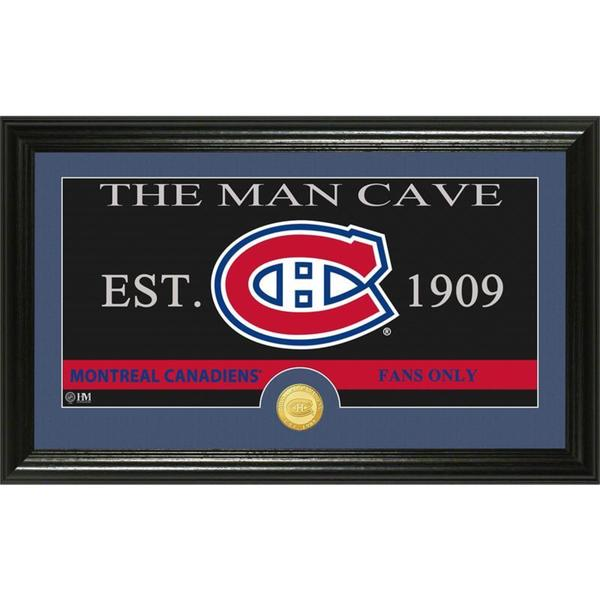 "Montreal Canadiens ""The Man Cave"" Bronze Coin Panoramic Photo Mint"